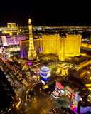 Las Vegas Strip Night Scene Stock Photography