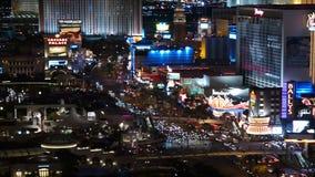 Las Vegas Strip Night Time Lapse Tele stock video footage