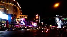 Las Vegas strip at night time, September 12,2014 Las Vegas, Nevada stock video footage
