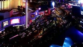 Las Vegas strip at night time, September 12,2014 Las Vegas, Nevada stock footage