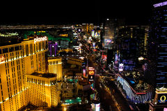 Las Vegas Strip at Night. Royalty Free Stock Photo