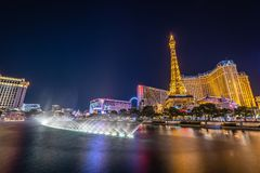 The Las Vegas Strip at Night stock images