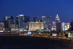 Las Vegas Strip Predawn Royalty Free Stock Photo