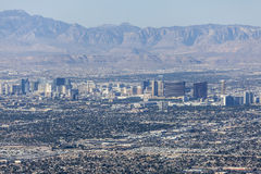 Las Vegas Strip and Red Rock Canyon National Conservation Area. Editorial view of the Las Vegas strip and Red Rock Canyon Mational Conservation Area Royalty Free Stock Photo