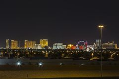 Las Vegas Strip Resorts Night Stock Image