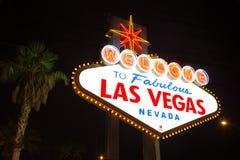 Las Vegas strip sign stock images