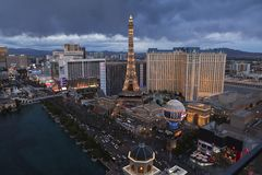 Las Vegas Strip Storm Clouds at Dusk Stock Photo
