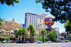 Las vegas strip in summer day Stock Images