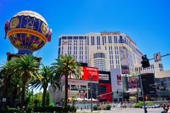 Las vegas strip in summer day Royalty Free Stock Images