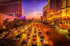 Las Vegas Strip. The Las Vegas Strip at Sunset royalty free stock image