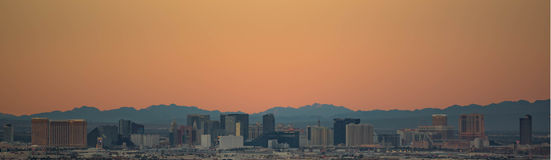The Las Vegas Strip at Sunset Stock Images