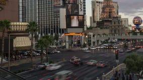 Las Vegas Strip at Twilight Time Lapse stock video footage