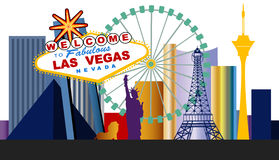 Las Vegas Strip vector illustration