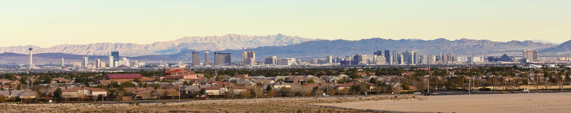 A Las Vegas Strip View from Summerlin Stock Image