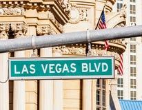 Las Vegas Strip. A view of Welcome to Fabulous Las Vegas sign in Las Vegas Strip royalty free stock photography