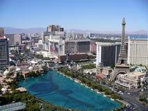 Las Vegas Strip w/ Bellagio Fountain. (Taken From the Cosmopolitan royalty free stock photos