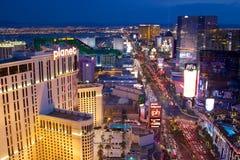 Las Vegas Strip. The world famous Las Vegas Strip at night royalty free stock image