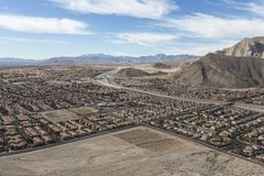 Las Vegas Suburban Sprawl Stock Image