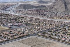 Las Vegas Suburban Sprawl Stock Photo