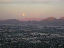 Las Vegas suburbs. Landscape of Las Vegas suburbs in sunset Stock Photos