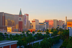 Las Vegas at sunset. Sunset over Las Vegas in Nevada royalty free stock photography