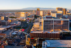 Las Vegas at sunset Stock Photography