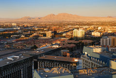 Las Vegas Sunset Aerial View Stock Photos