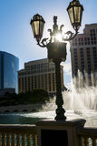Las Vegas at sunset stock images