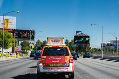 Las Vegas taxi cab Royalty Free Stock Photo
