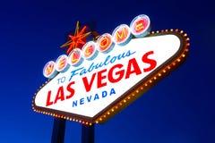 Las Vegas tecken Arkivfoton