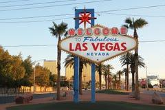 Las Vegas tecken Fotografering för Bildbyråer