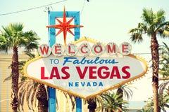 Las Vegas tecken arkivfoto