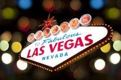 Las Vegas tecken royaltyfri bild