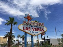 Las Vegas tecken Nevada USA Arkivbild