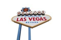 Las Vegas tecken som isoleras med Clippingbanan Royaltyfri Foto