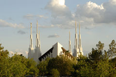 Las Vegas Temple. Temple of the Church of Jesus Christ of Latter-day Saints located in Las Vegas, Nevada Royalty Free Stock Images