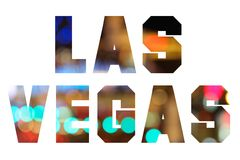 Las Vegas text Royalty Free Stock Images