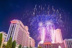 Las Vegas 4th Juli Arkivbild