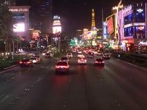 S Las Vegas Blvd by night, Las Vegas, USA Stock Photography