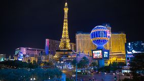 Las Vegas. Time Lapse of the Las Vegas strip at night