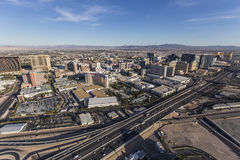 Las Vegas Towers and I15 Aerial Royalty Free Stock Photography