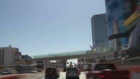 Las Vegas Traffic - Car Camera Mount - Clip 3 stock video
