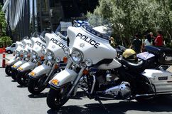 Las Vegas traffic police motorbikes Stock Photo