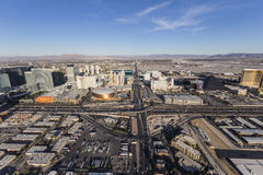 Las Vegas Tropicana Ave and Interstate 15 Aerial Royalty Free Stock Image