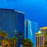 Las Vegas, U.S.A. - luglio 2016 vista della striscia di Las Vegas alla notte nel Nevada U.S.A. Immagine Stock Libera da Diritti