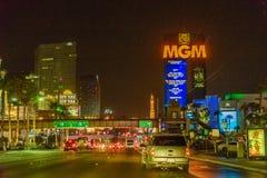 Las Vegas, U.S.A. - luglio 2016 vista della striscia di Las Vegas alla notte nel Nevada U.S.A. Immagini Stock Libere da Diritti