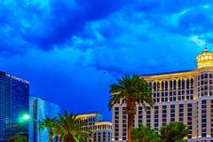 Las Vegas, U.S.A. - luglio 2016 vista della striscia di Las Vegas alla notte nel Nevada U.S.A. Fotografia Stock Libera da Diritti