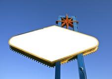 Las Vegas undertecknar baken som ut klipps med den snabba banan Royaltyfria Foton