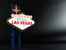 Las Vegas undertecknar med rum för typ Royaltyfri Bild