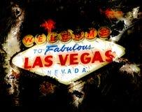 Las Vegas undertecknar på med abstrakt bakgrund Arkivbilder